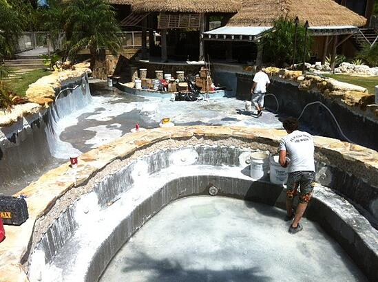 repairing pool in South Florida